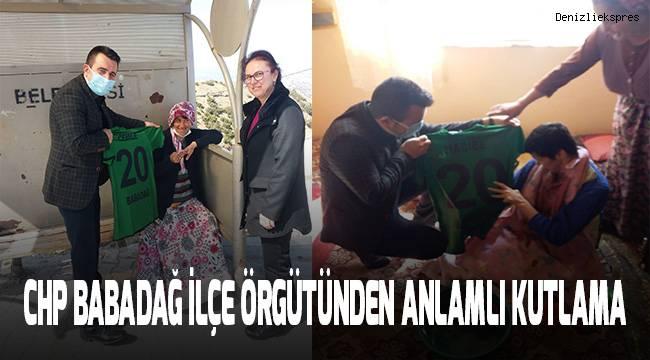 CHP Babadağ İlçe Örgütünden anlamlı kutlama