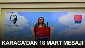 CHP Genel Başkan Yardımcısı Denizli Milletvekili Gülizar Biçer Karaca'dan 18 Mart mesajı