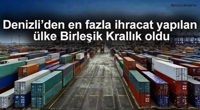 Denizli'den en fazla ihracat yapılan ülke Birleşik Krallık oldu