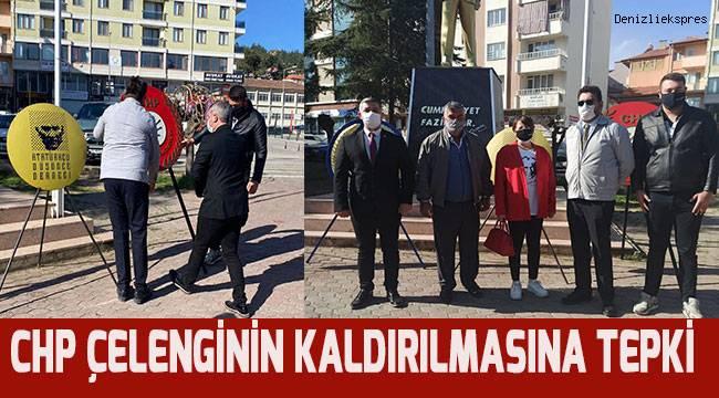 Acıpayam'da CHP çelenginin kaldırılmasına Albayra'tan tepki