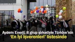 Aydem Enerji, 8 grup şirketiyle Türkiye'nin 'En İyi İşverenleri' listesinde