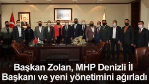 Başkan Zolan, MHP Denizli İl Başkanı ve yeni yönetimini ağırladı