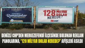 CHP Denizli'den reklam panolarına,