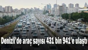 Denizli'de araç sayısı 431 bin 941'e ulaştı