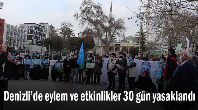 Denizli'de eylem ve etkinlikler 30 gün yasaklandı