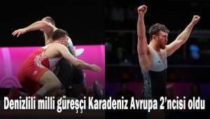 Denizlili milli güreşçi Karadeniz Avrupa 2'ncisi oldu