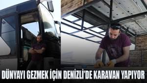 Dünyayı gezmek için kendine otobüsten karavan yapıyor