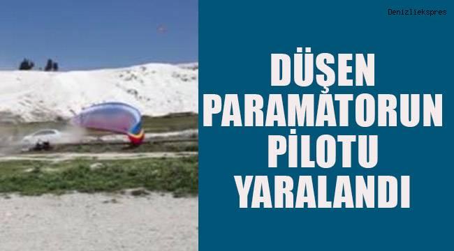 Düşen paramotorun pilotu yaralandı