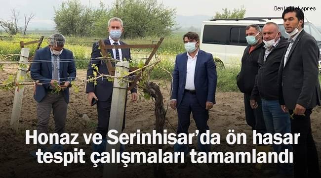 Honaz ve Serinhisar'da ön hasar tespit çalışmaları tamamlandı