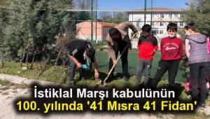 İstiklal Marşı kabulünün 100. yılında '41 Mısra 41 Fidan'