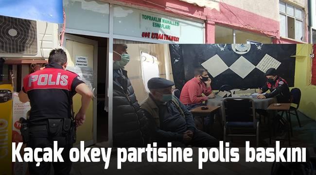 Kaçak okey partisine polis baskını