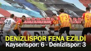 Maç sonucu Kayserispor: 6 - Denizlispor: 3