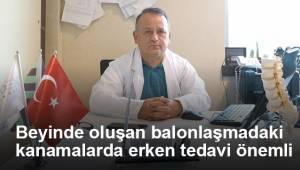 Beyinde oluşan balonlaşmadaki kanamalarda erken tedavi önemli