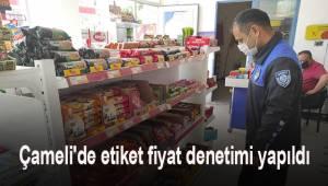 Çameli'de etiket fiyat denetimi yapıldı