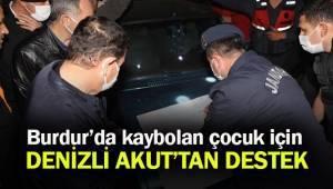 Denizli AKUT, Burdur'da kaybolan çocuk için yürütülen çalışmalara destek veriyor