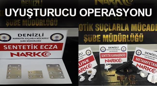 Denizli'de uyuşturucu operasyonu: 37 gözaltı