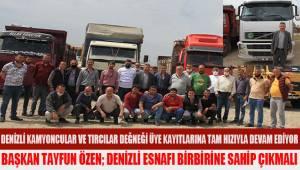 Denizli Kamyoncular ve Tırcılar Derneği Başkanı Tayfun Özen; İşçi Bayramını kutladı