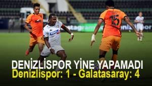 MAÇ SONUCU Denizlispor: 1 - Galatasaray: 4