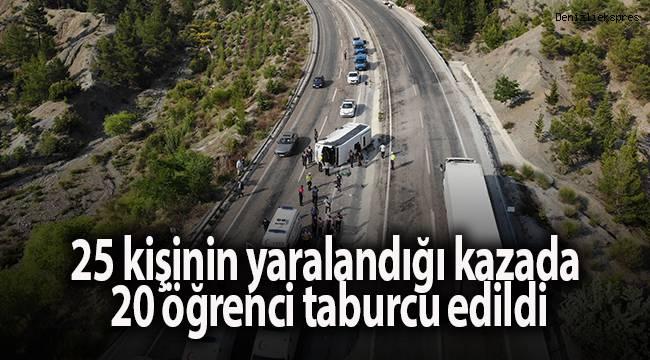 25 kişinin yaralandığı kazada 20 öğrenci taburcu edildi