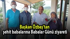 Başkan Özbaş'tan şehit babalarına Babalar Günü ziyareti