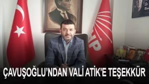 Çavuşoğlu, taşocağına karşı gösterdiği duyarlılıktan dolayı Vali Ali Fuat Atik'e teşekkür etti