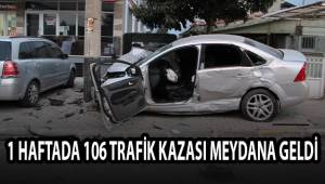 Denizli'de 1 haftada 106 trafik kazası meydana geldi