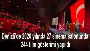Denizli'de 2020 yılında 27 sinema salonunda 244 film gösterimi yapıldı