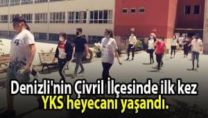 Denizli'nin Çivril İlçesinde ilk kez Yükseköğretim Kurumları Sınavı (YKS) heyecanı yaşandı.