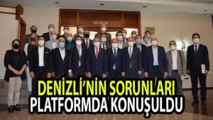 DENİZLİ'NİN SORUNLARI PLATFORMDA KONUŞULDU