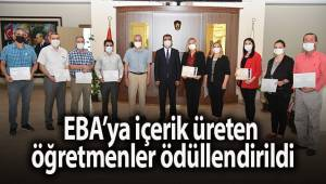 EBA'ya içerik üreten öğretmenler ödüllendirildi