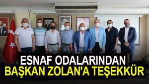 Esnaf odalarından Başkan Zolan'a teşekkür