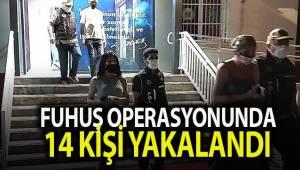 Fuhuş operasyonunda 14 kişiye 12 bin 900 TL idari para cezası