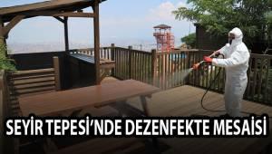 SEYİR TEPESİ'NDE DEZENFEKTE MESAİSİ
