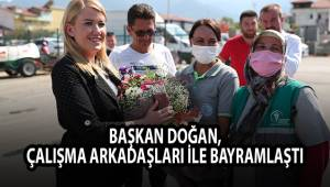 Başkan Doğan, çalışma arkadaşları ile bayramlaştı