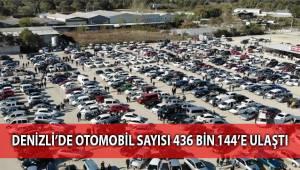 Denizli'de otomobil sayısı 436 bin 144'e ulaştı