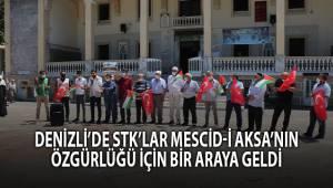 Denizli'de STK'lar Mescid-i Aksa'nın özgürlüğü için bir araya geldi