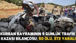 Kurban Bayramında Trafik kazalarında acı bilanço
