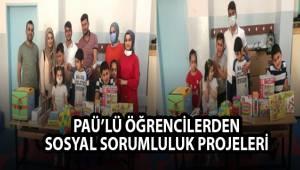 PAÜ'lü Öğrencilerden Sosyal Sorumluluk Projeleri
