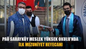 PAÜ Sarayköy Meslek Yüksekokulu'nda ilk mezuniyet heyecanı