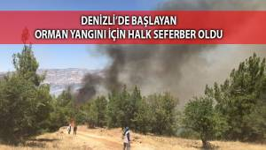 Denizli'de başlayan orman yangını için halk seferber oldu