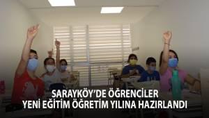 Sarayköy'de öğrenciler yeni eğitim öğretim yılına hazırlandı