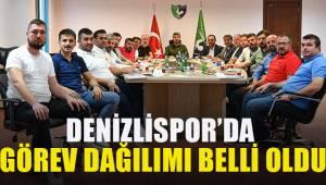 Denizlispor Kulübü'nde yönetim kurulu görev dağılımı belli oldu.
