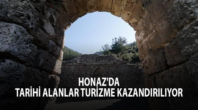 HONAZ'DA TARİHİ ALANLAR TURİZME KAZANDIRILIYOR