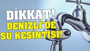 Yenişehir ve Servergazi'de su kesintisi