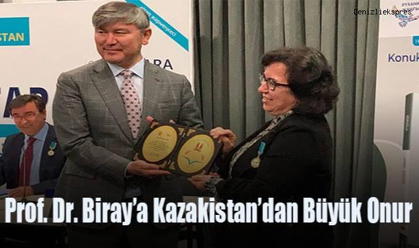 Prof. Dr. Biray'a Kazakistan'dan Büyük Onur